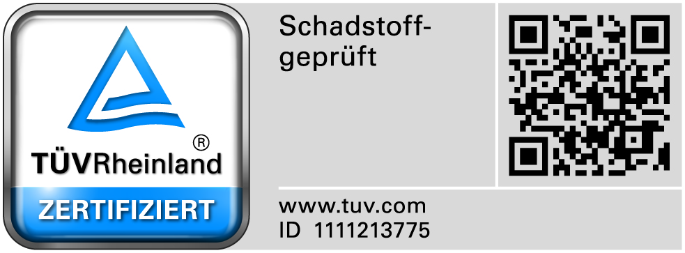 TÜV Rheinland Zertifiziert - ID: 1111213775